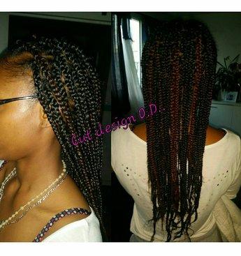 Coiffure petites braids